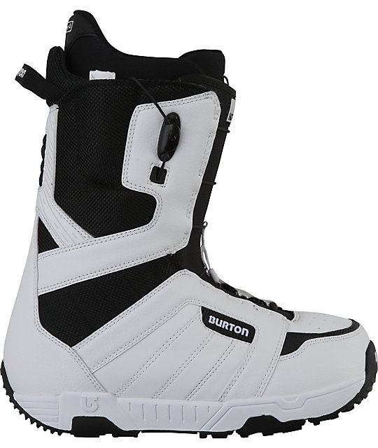 Burton Moto White Mens Snowboard Boots