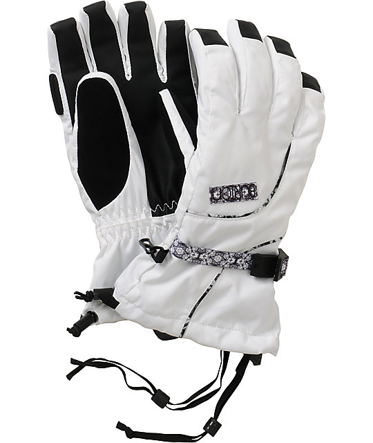 Burton Pele Bright White Gloves