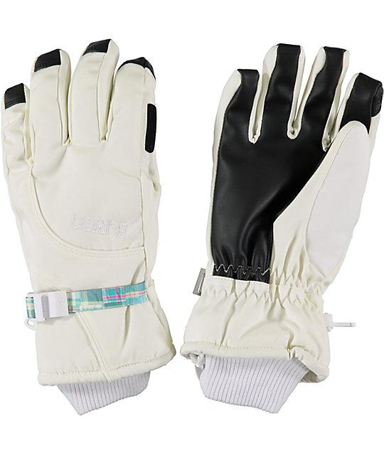 Burton Pele Womens White Under Gloves