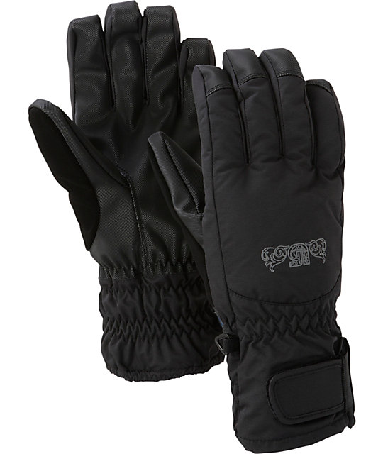 Burton Profile Black Womens Under Gloves