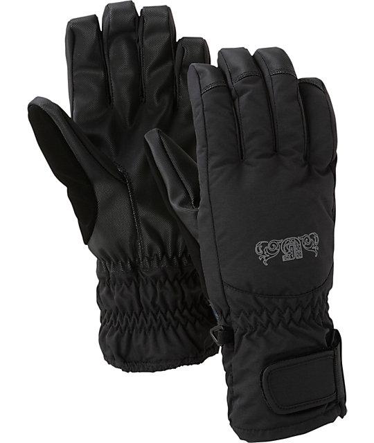 Burton Profile Black Womens Under Gloves