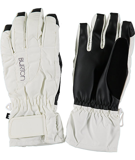 Burton Profile Womens White Under Gloves