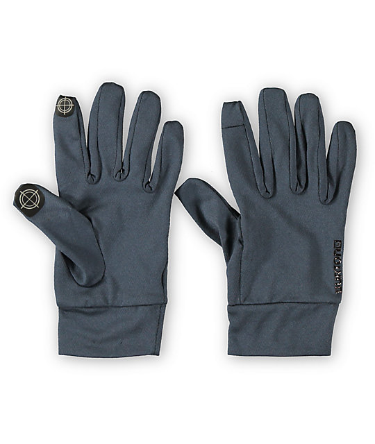 Burton Quarry Touchscreen Grey Liner Gloves
