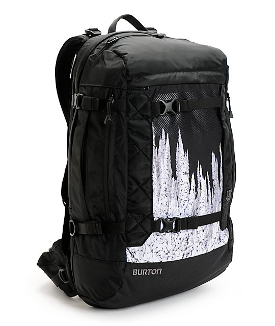Burton Riders Black & Revelstoke Print Snowboard Backpack