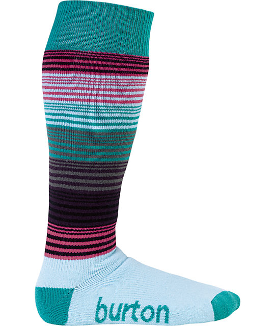 Burton Scout Stripe Blue Snowboard Socks