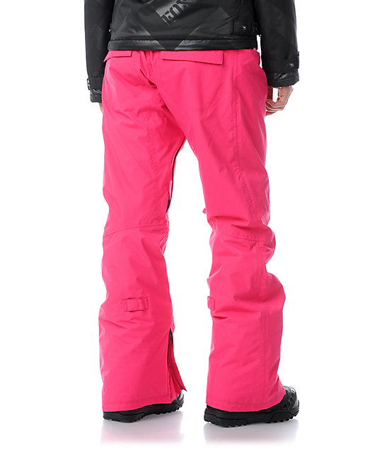 Burton Society Hot Pink 10K Snowboard Pants
