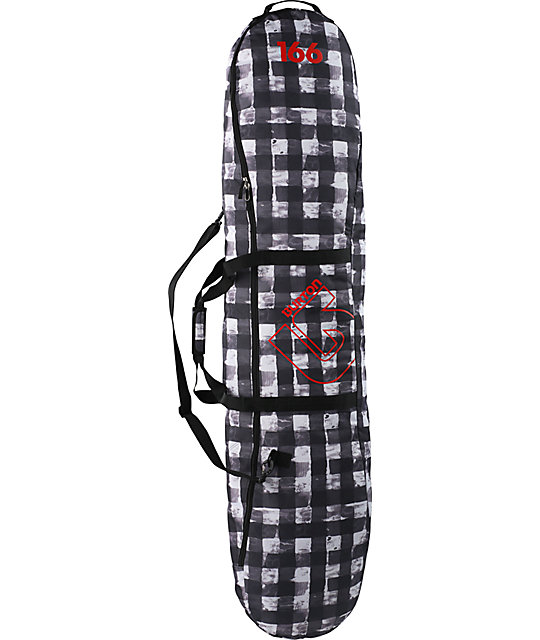 Burton Spacesack 2011 Black Buff Plaid 166cm Snowboard Bag