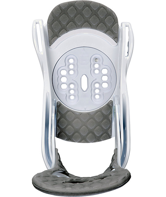 Burton Stiletto White Womens Snowboard Bindings
