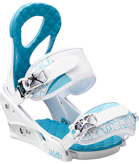 Burton Stiletto Womens White Snowboard Bindings