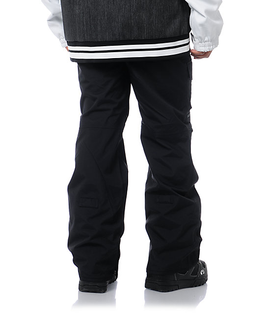 Burton TWC Throttle Black 10k Cargo Snowboard Pants