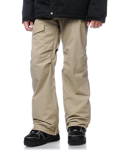 Burton TWC Throttle Khaki 10k Cargo Snowboard Pants