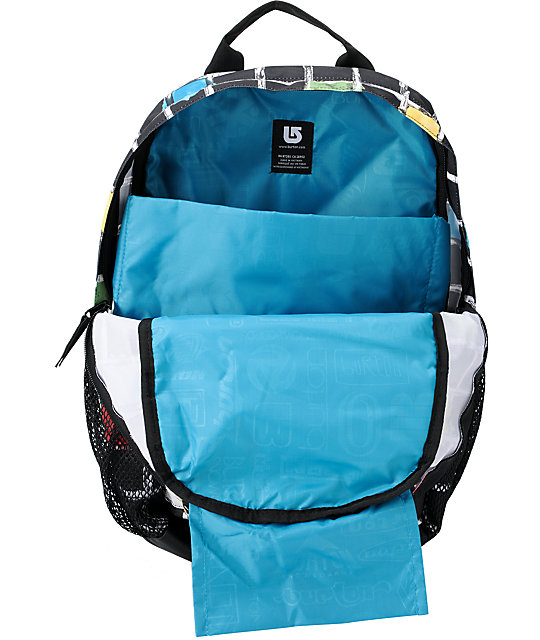 Burton Treble Yell Black Watercolor Square Snow Backpack