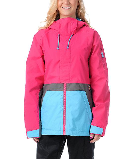 Burton Tula Hot Streak Pink 10K Snowboard Jacket