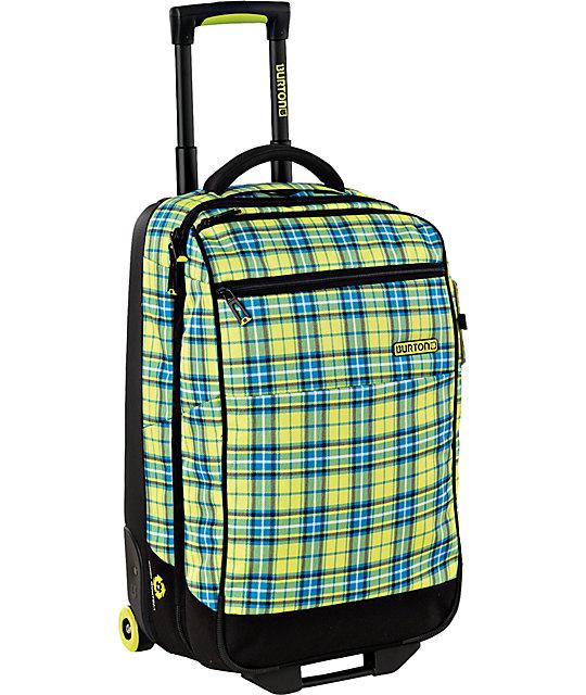 Burton Wheelie Gypsy Plaid 2012 Flight Deck Roller Bag