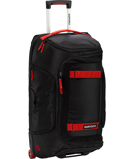 Burton Wheelie Tech Light 28in Black & Red Roller Bag