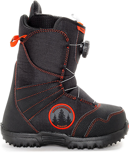 Burton Zipline Youth Black & Red Snowboard Boots