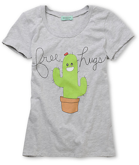 CDC Apparel Free Hugs Grey T-Shirt