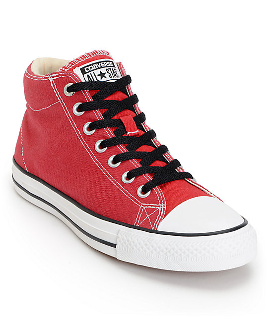 CTS Hi Chilli Red, White & Black Skate Shoes
