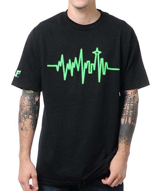 Cake Face Heartbeat Black T-Shirt