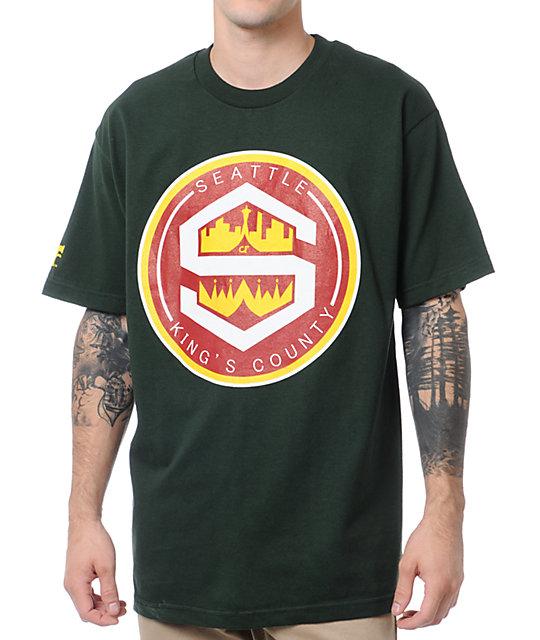 Cake Face King County Green T-Shirt