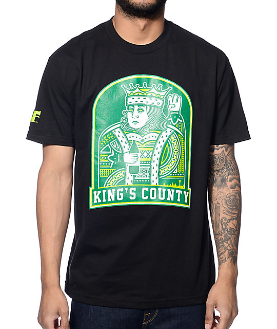Cake Face Kings County Black T-Shirt