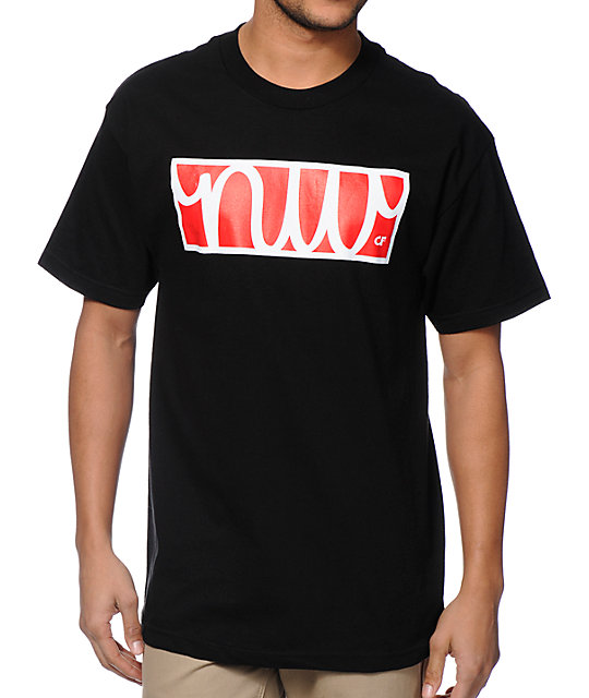Cake Face OR N Dub Script Black T-Shirt