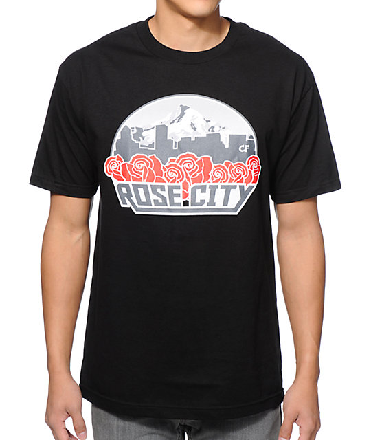 Cake Face Rose City Black T-Shirt