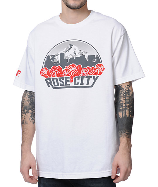 Cake Face Rose City White T-Shirt