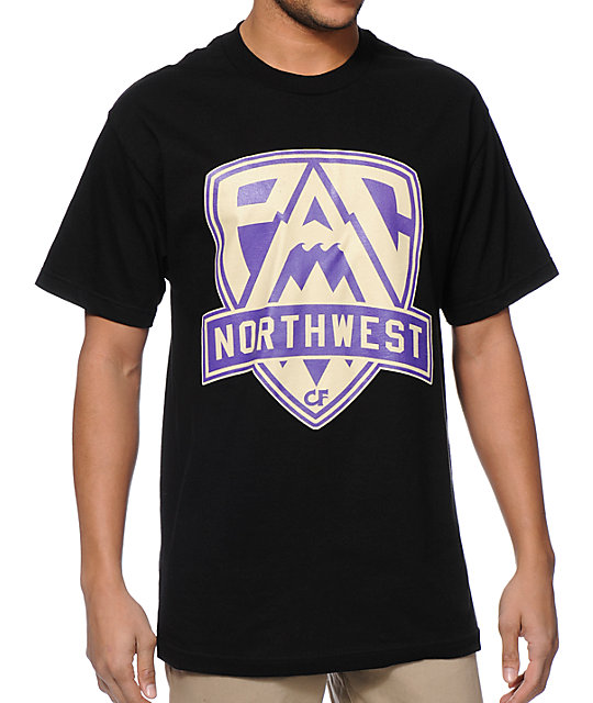 Cake Face WA Pac NW Crest Black T-Shirt