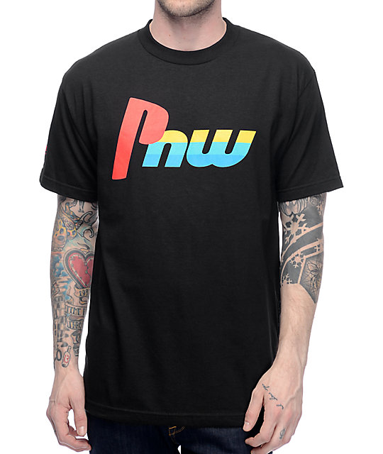CakeFace PNW Play Black T-Shirt
