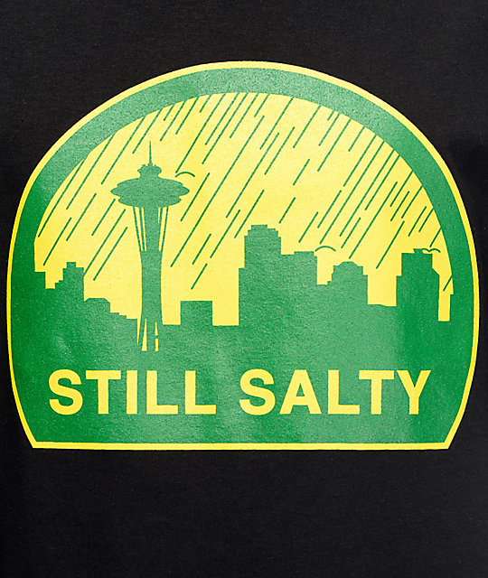 CakeFace WA Still Salty Black T-Shirt