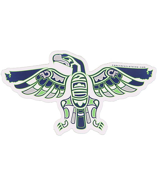 Cakeface Native Hawks Sticker