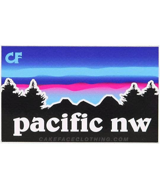 Cakeface PNW Sticker