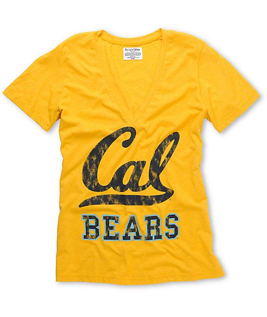 Cal Berkeley V-Neck College Football T-Shirt