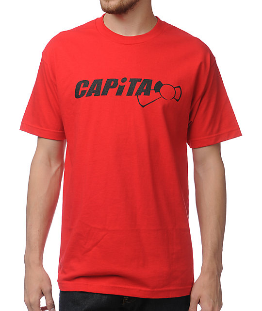 Capita Snowboarding Wordmark Red T-Shirt