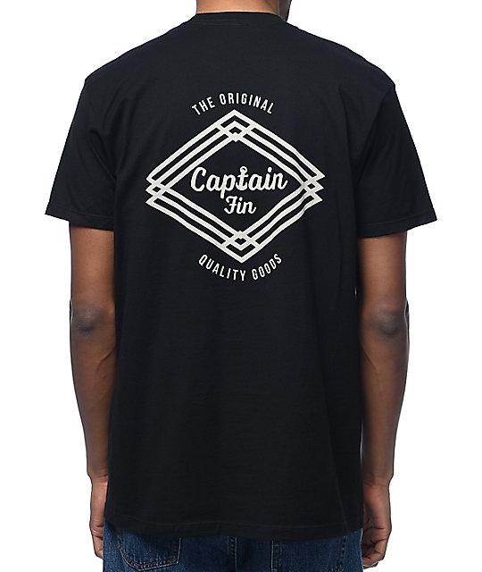 Captain Fin Co. Proven Black T-Shirt