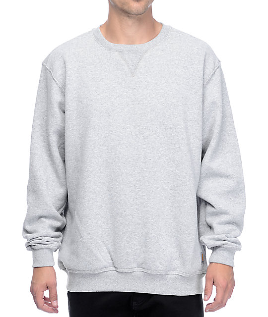Midweight Heather Grey Crew Neck Sweatshirt