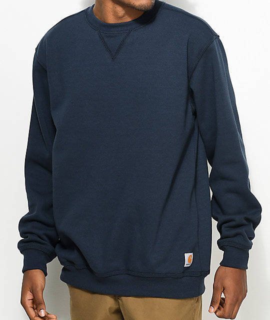 Carhartt Midweight Navy Crew Neck Sweatshirt | Zumiez