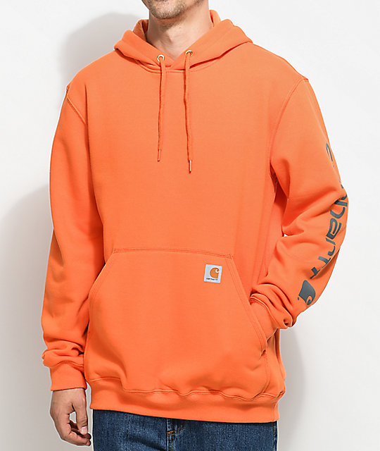 Carhartt Signature Orange & Charcoal Pullover Hoodie | Zumiez
