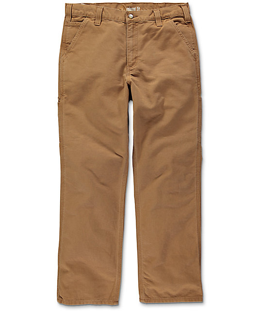 Carhartt Washed Duck Work Brown Dungaree Pants