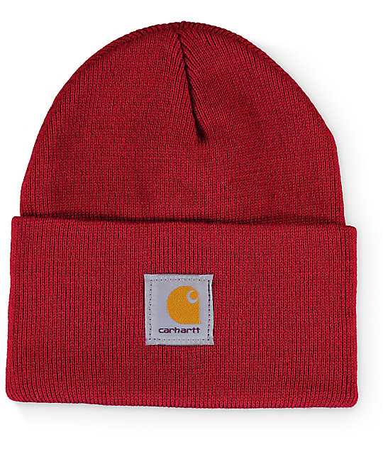 Carhartt Watch Dark Crimson Beanie