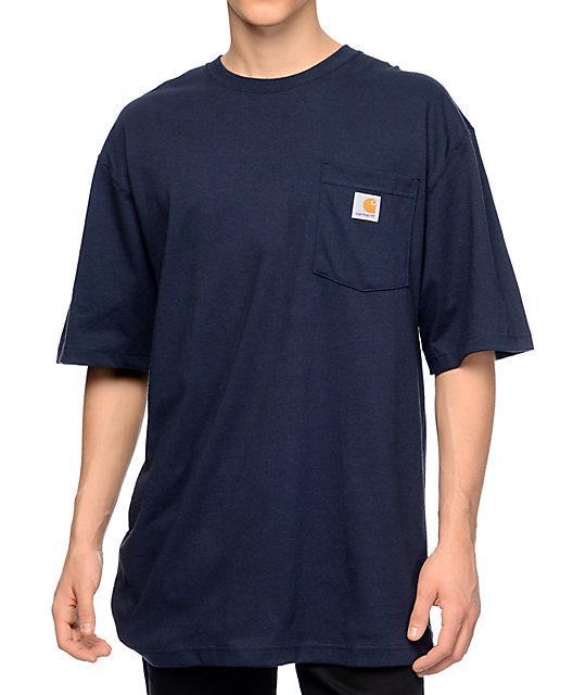 carhartt workwear navy pocket t shirt at zumiez pdp. Black Bedroom Furniture Sets. Home Design Ideas