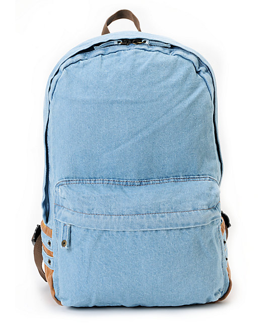 Carrot Company Denim Blue Backpack