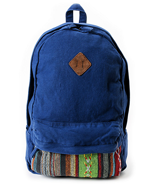 Carrot Company Native American Inspired Navy Backpack