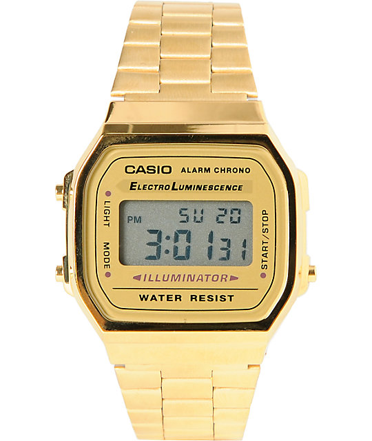Casio A159WA-N1CR Classic Retro Gold Watch