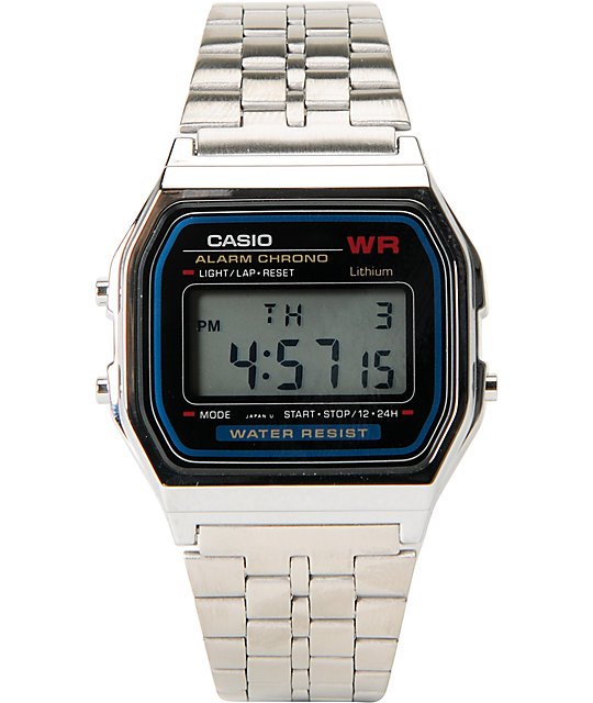 Casio A159WA-N1CR Classic Retro Silver Watch
