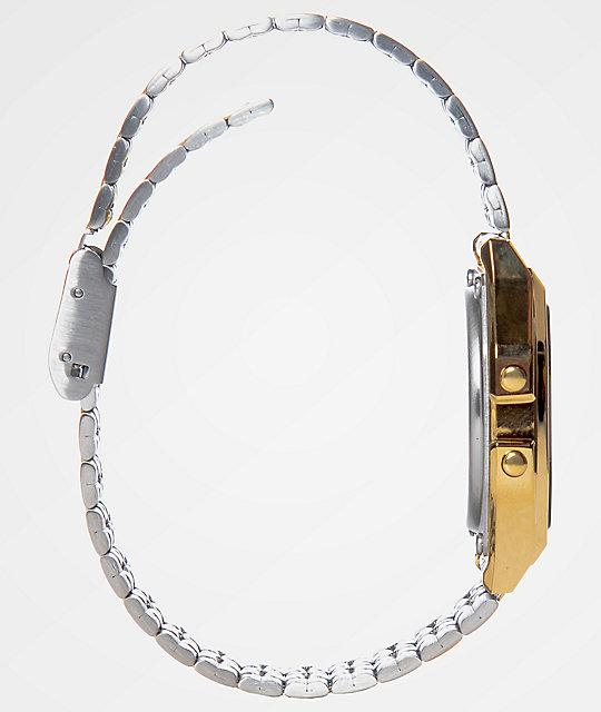 Casio A159WGEA-1VT Vintage Black & Gold Watch