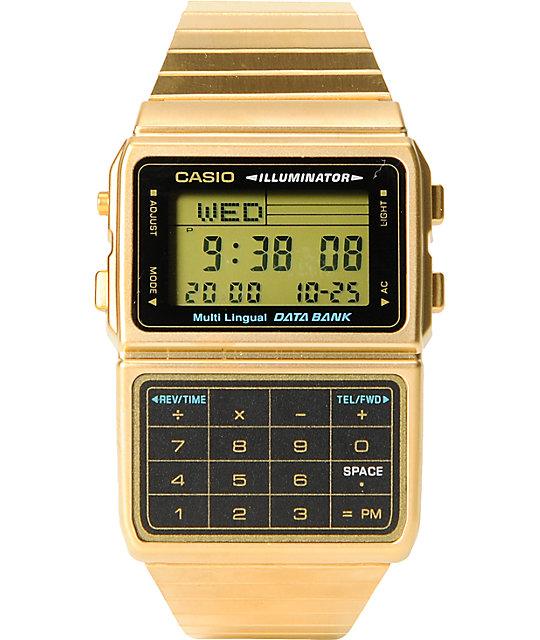 Casio DBC611-1 Gold Databank Watch
