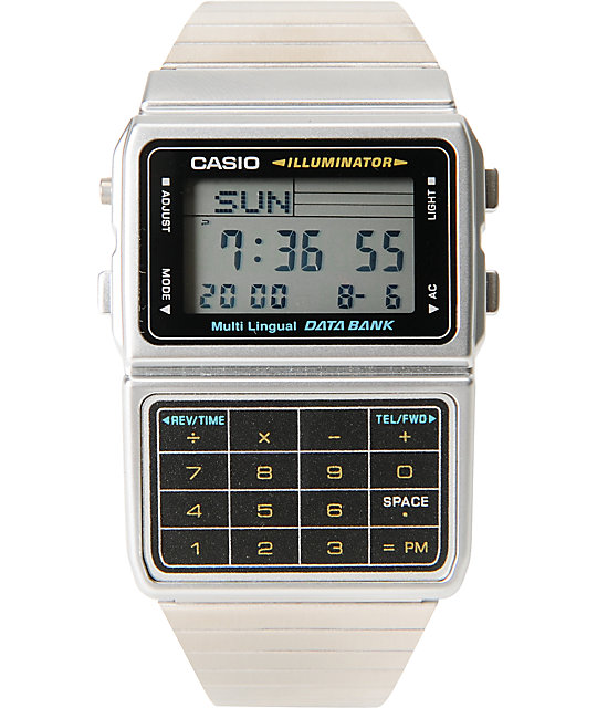 Casio DBC611-1 Silver Databank Watch