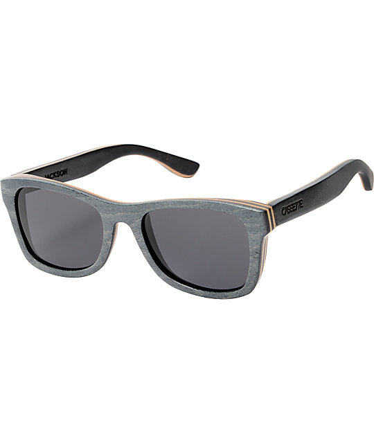 Cassette Jackson Black & Grey Skate Wood Sunglasses